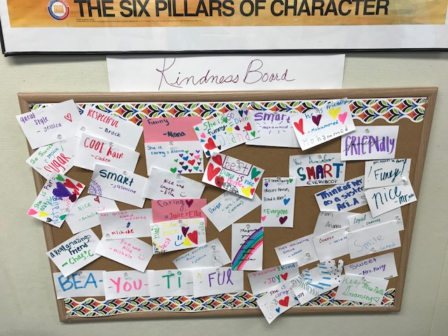 Learning Center Kindness board